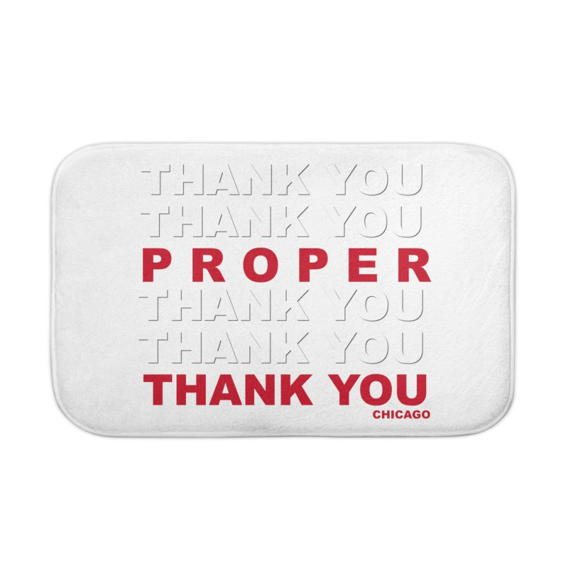 THANK YOU RED Home Bath Mat by Properchicago's Shop