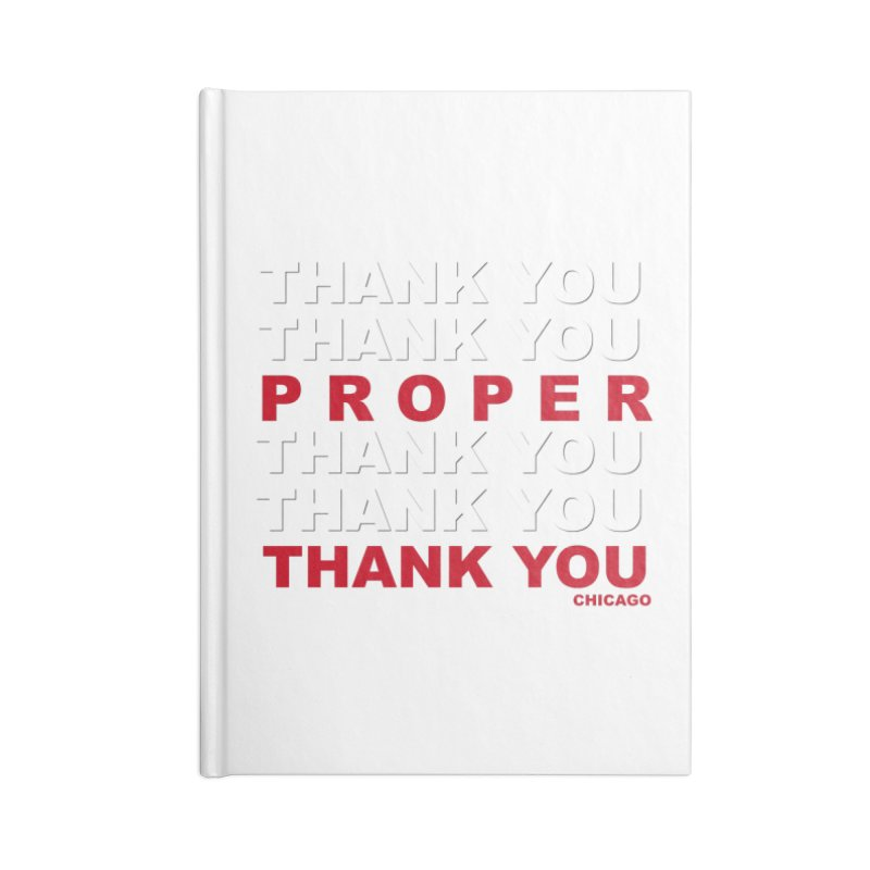 THANK YOU RED Accessories Lined Journal Notebook by Properchicago's Shop