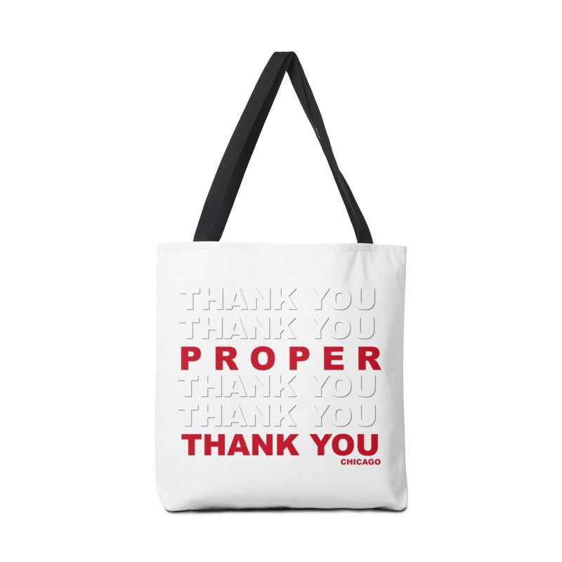 THANK YOU RED Accessories Bag by Properchicago's Shop