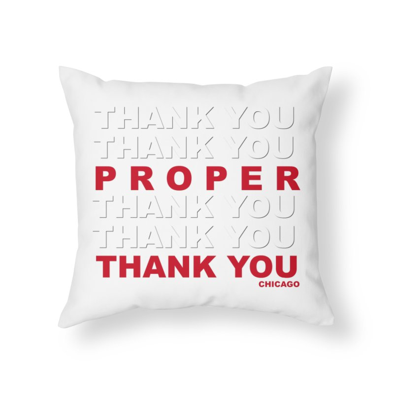 THANK YOU RED Home Throw Pillow by Properchicago's Shop