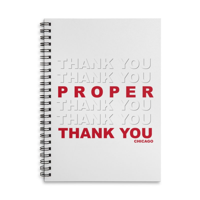 THANK YOU RED Accessories Lined Spiral Notebook by Properchicago's Shop