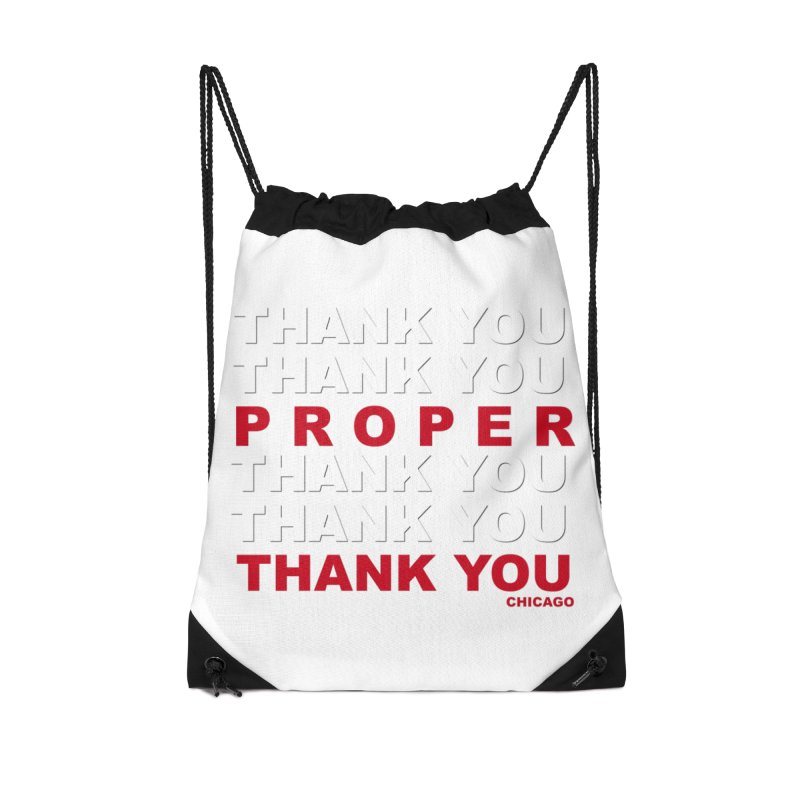 THANK YOU RED Accessories Drawstring Bag Bag by Properchicago's Shop