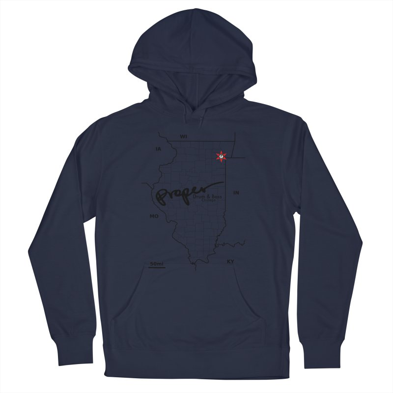Ill blk 2018 Men's French Terry Pullover Hoody by Properchicago's Shop