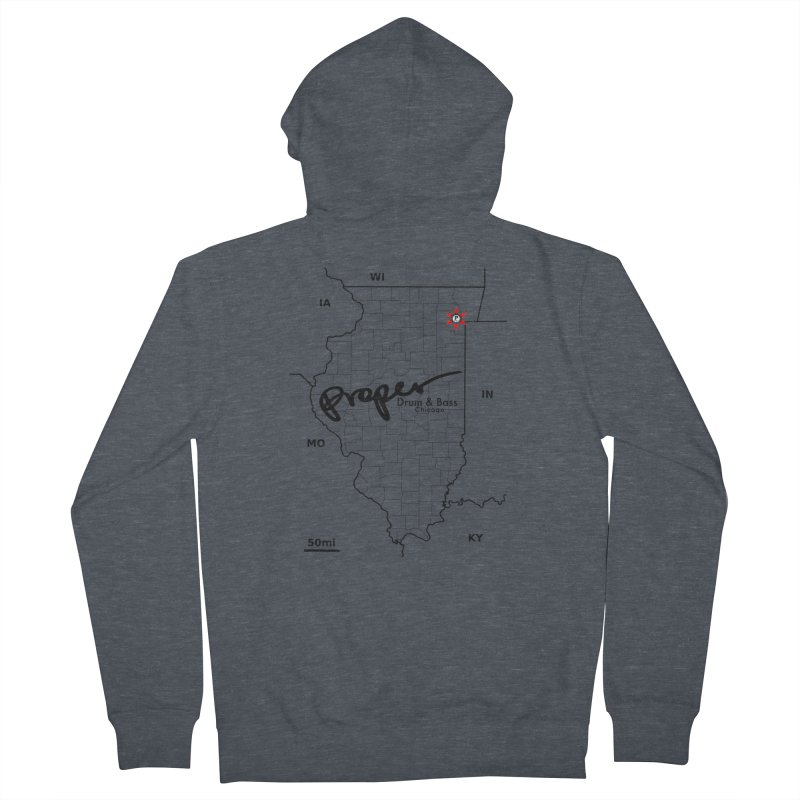 Ill blk 2018 Women's French Terry Zip-Up Hoody by Properchicago's Shop
