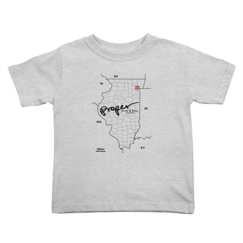 Ill blk 2018 Kids Toddler T-Shirt by Properchicago's Shop