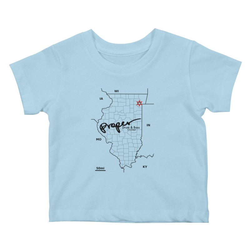 Ill blk 2018 Kids Baby T-Shirt by Properchicago's Shop