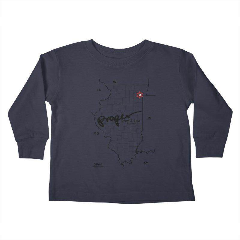 Ill blk 2018 Kids Toddler Longsleeve T-Shirt by Properchicago's Shop