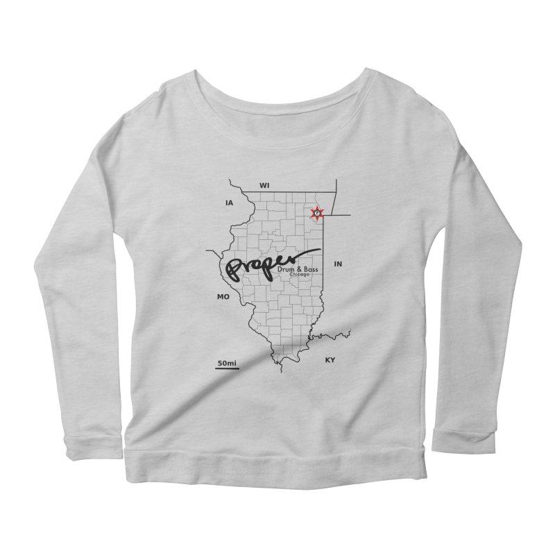 Ill blk 2018 Women's Scoop Neck Longsleeve T-Shirt by Properchicago's Shop