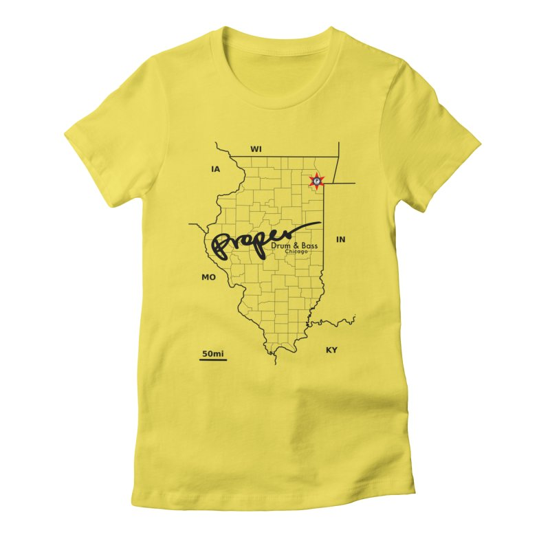 Ill blk 2018 Women's Fitted T-Shirt by Properchicago's Shop