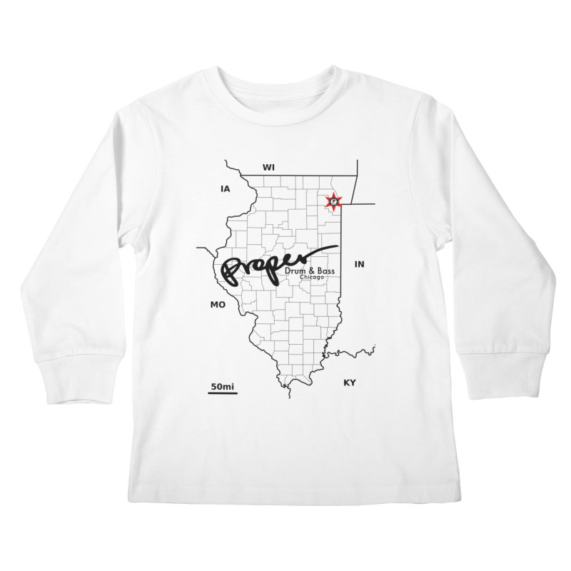Ill blk 2018 Kids Longsleeve T-Shirt by Properchicago's Shop