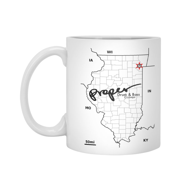 Ill blk 2018 Accessories Standard Mug by Properchicago's Shop