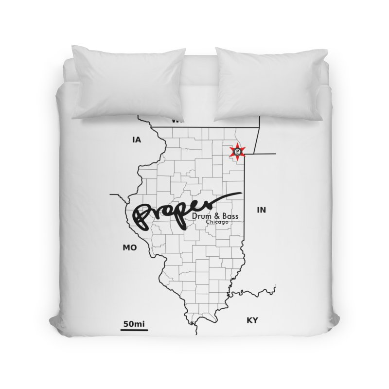 Ill blk 2018 Home Duvet by Properchicago's Shop