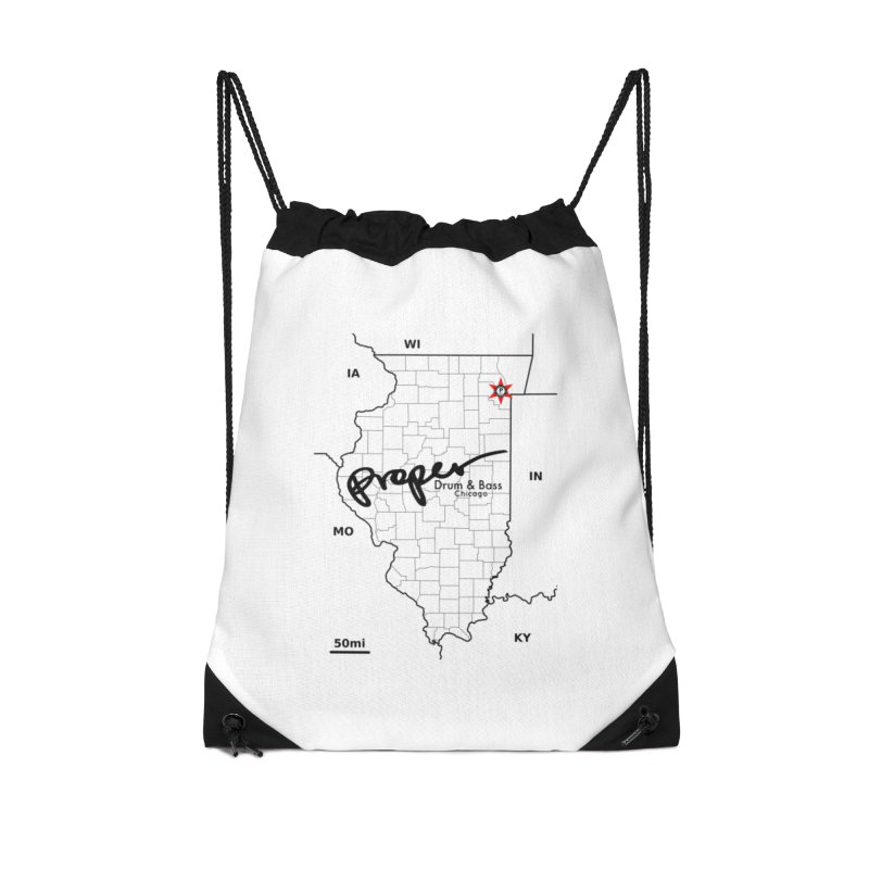 Ill blk 2018 Accessories Drawstring Bag Bag by Properchicago's Shop