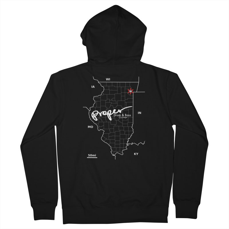 ILL wht 2018 Women's French Terry Zip-Up Hoody by Properchicago's Shop