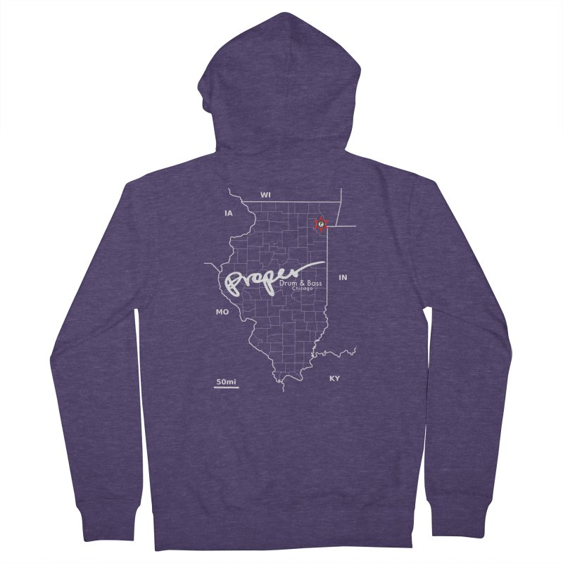 ILL wht 2018 Men's French Terry Zip-Up Hoody by Properchicago's Shop