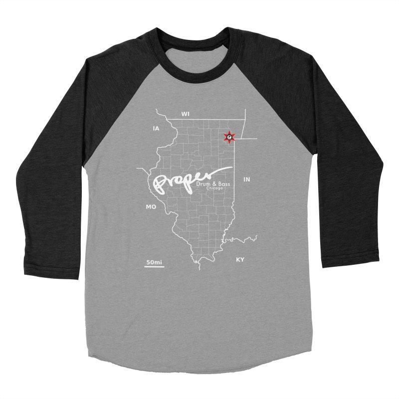 ILL wht 2018 Women's Baseball Triblend Longsleeve T-Shirt by Properchicago's Shop