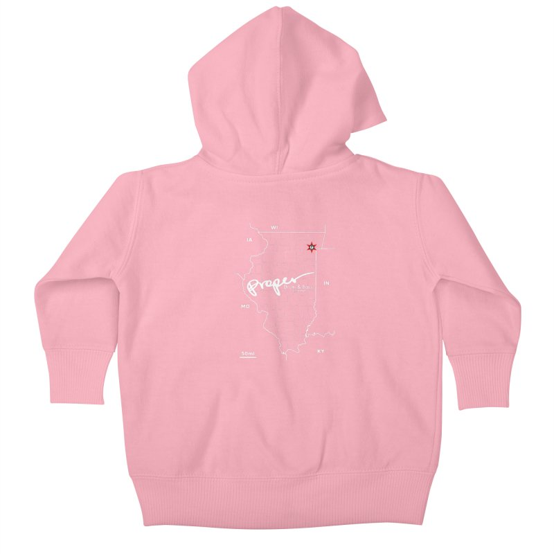 ILL wht 2018 Kids Baby Zip-Up Hoody by Properchicago's Shop