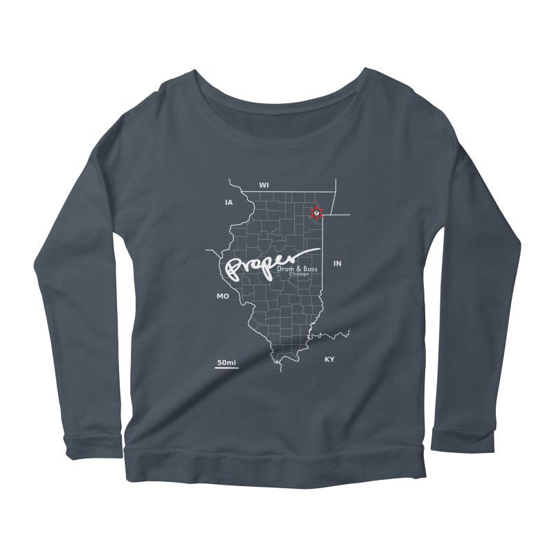 ILL wht 2018 Women's Scoop Neck Longsleeve T-Shirt by Properchicago's Shop