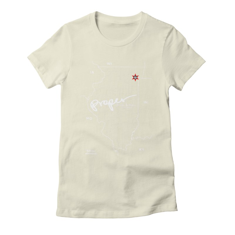 ILL wht 2018 Women's Fitted T-Shirt by Properchicago's Shop