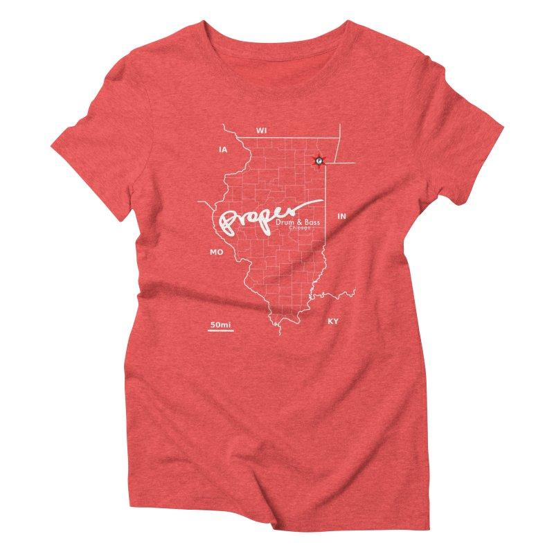 ILL wht 2018 Women's Triblend T-Shirt by Properchicago's Shop