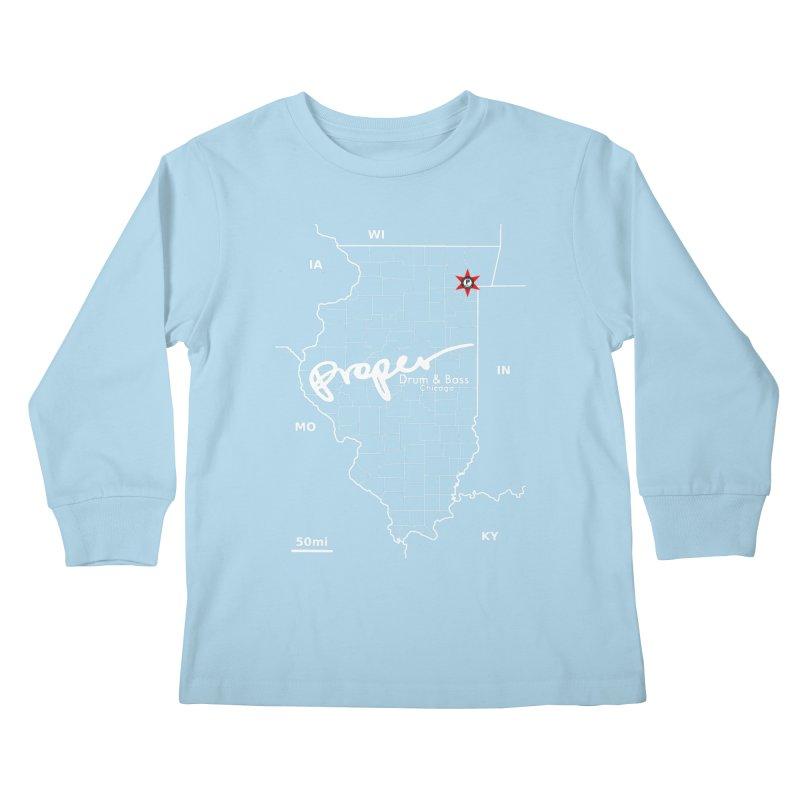 ILL wht 2018 Kids Longsleeve T-Shirt by Properchicago's Shop