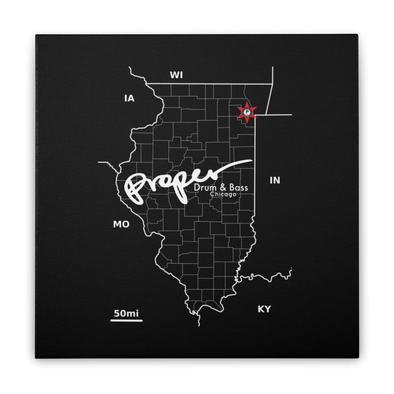 ILL wht 2018 Home Stretched Canvas by Properchicago's Shop