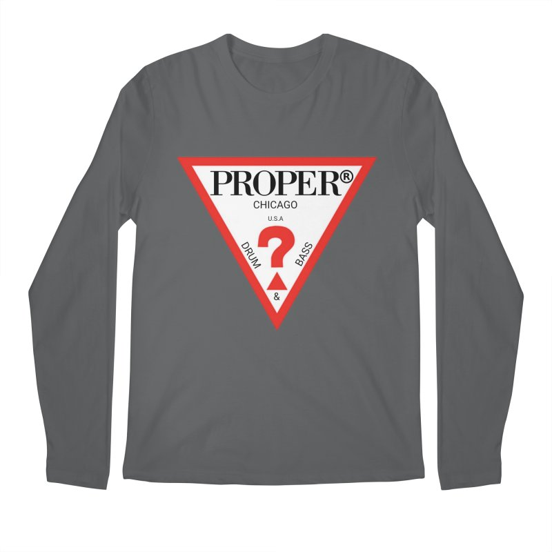 PROPER GUESS Men's Longsleeve T-Shirt by Properchicago's Shop