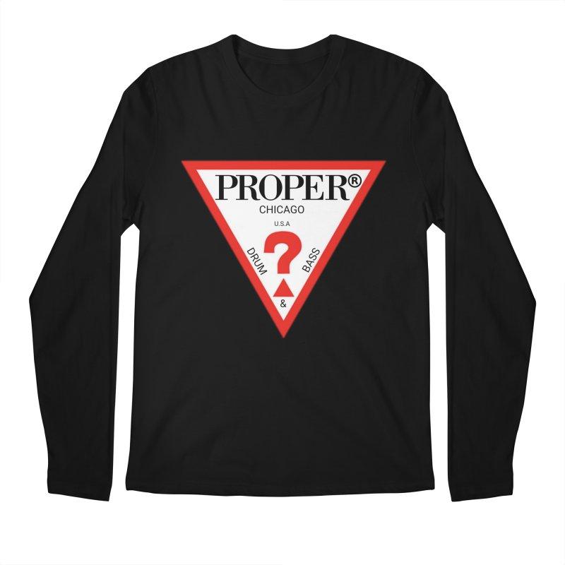PROPER GUESS Men's Regular Longsleeve T-Shirt by Properchicago's Shop