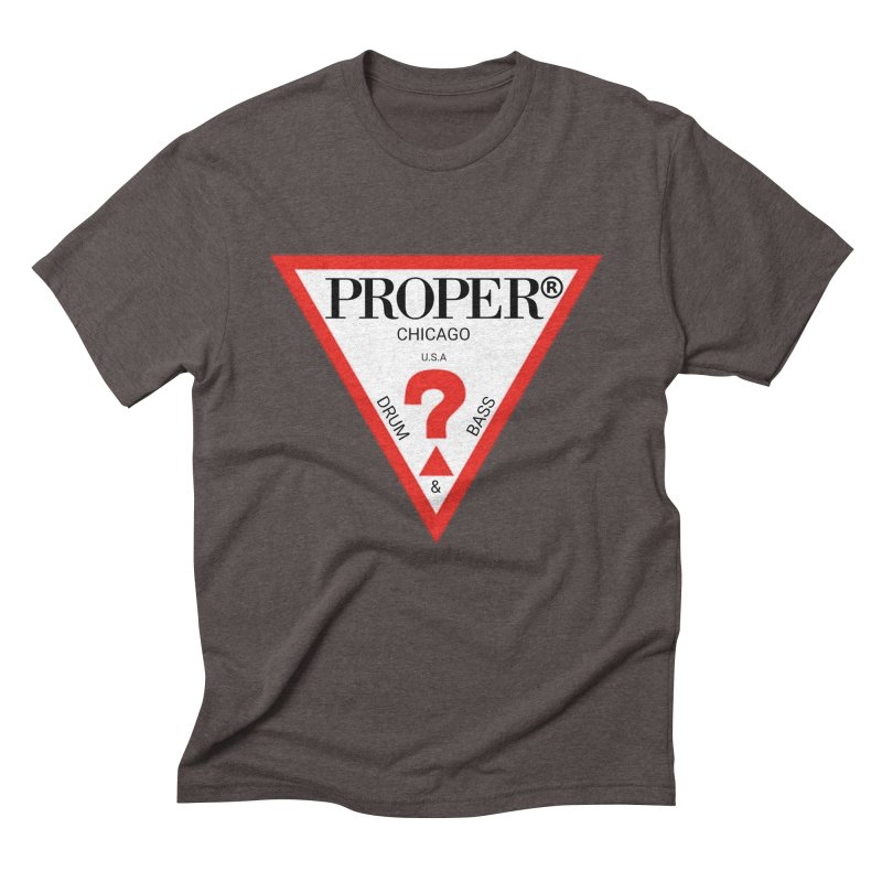 PROPER GUESS Men's Triblend T-Shirt by Properchicago's Shop