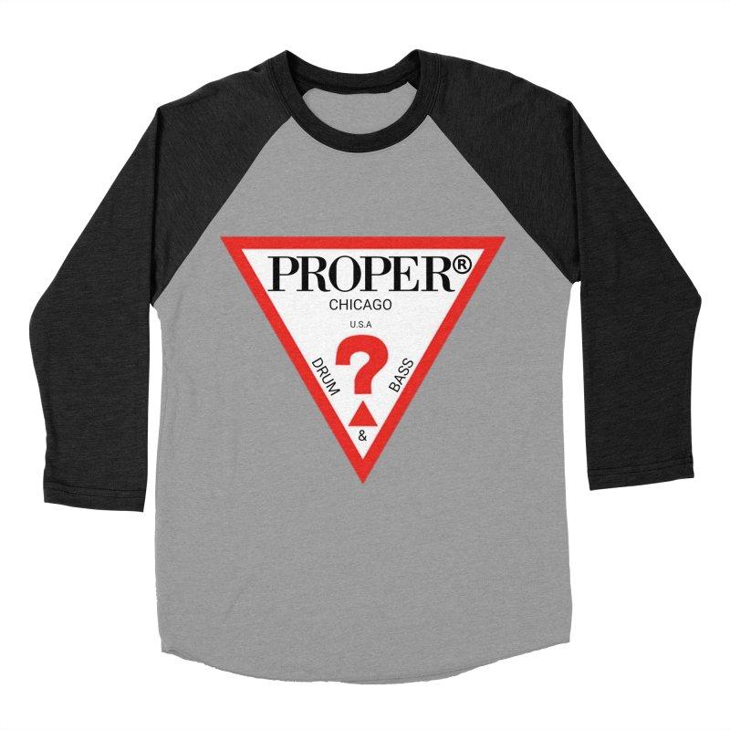PROPER GUESS Men's Baseball Triblend Longsleeve T-Shirt by Properchicago's Shop