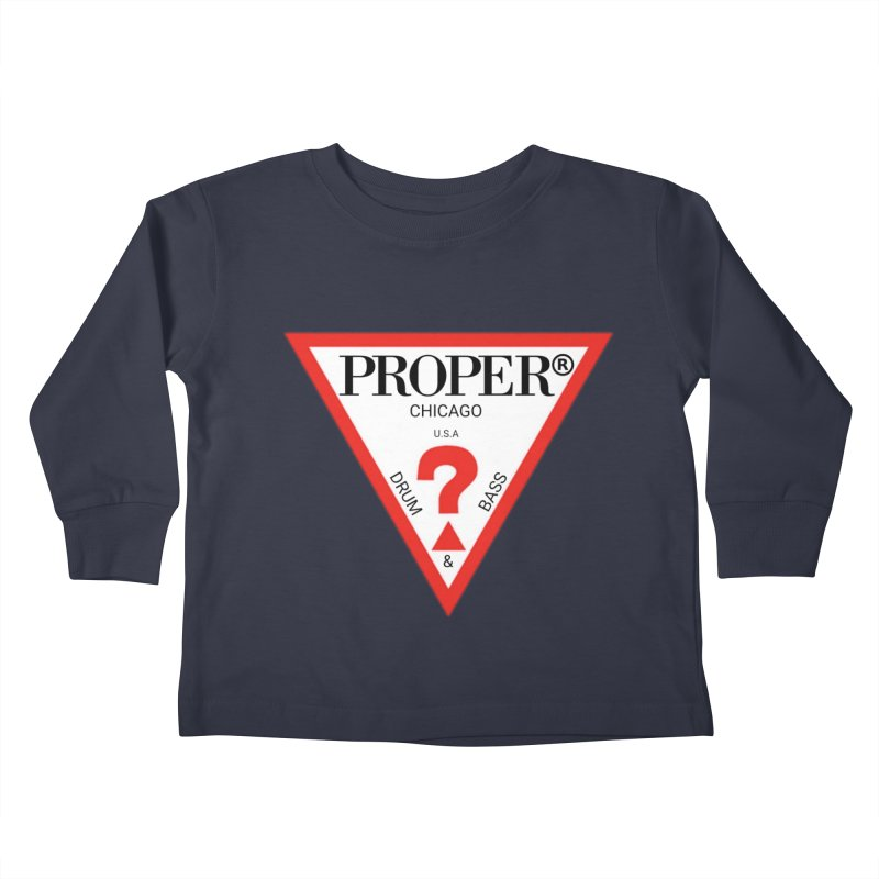 PROPER GUESS Kids Toddler Longsleeve T-Shirt by Properchicago's Shop