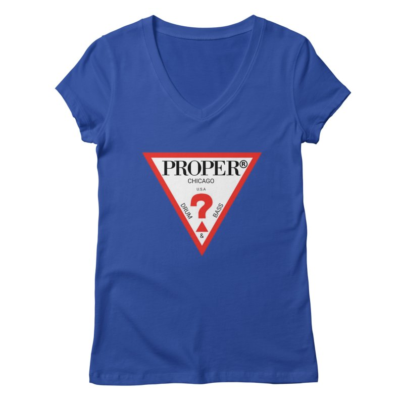 PROPER GUESS Women's Regular V-Neck by Properchicago's Shop