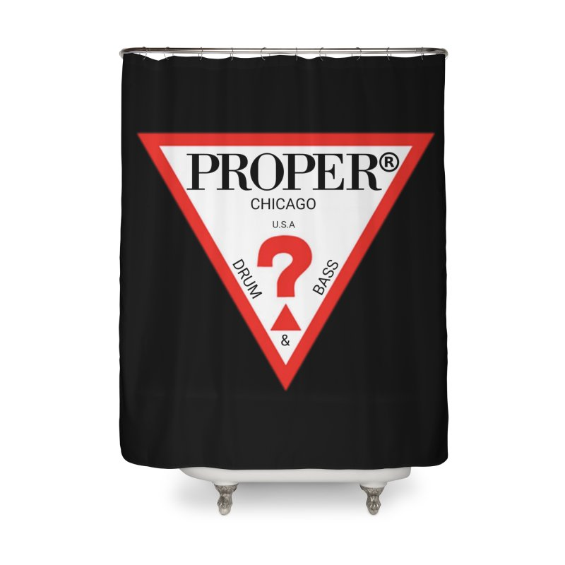 PROPER GUESS Home Shower Curtain by Properchicago's Shop