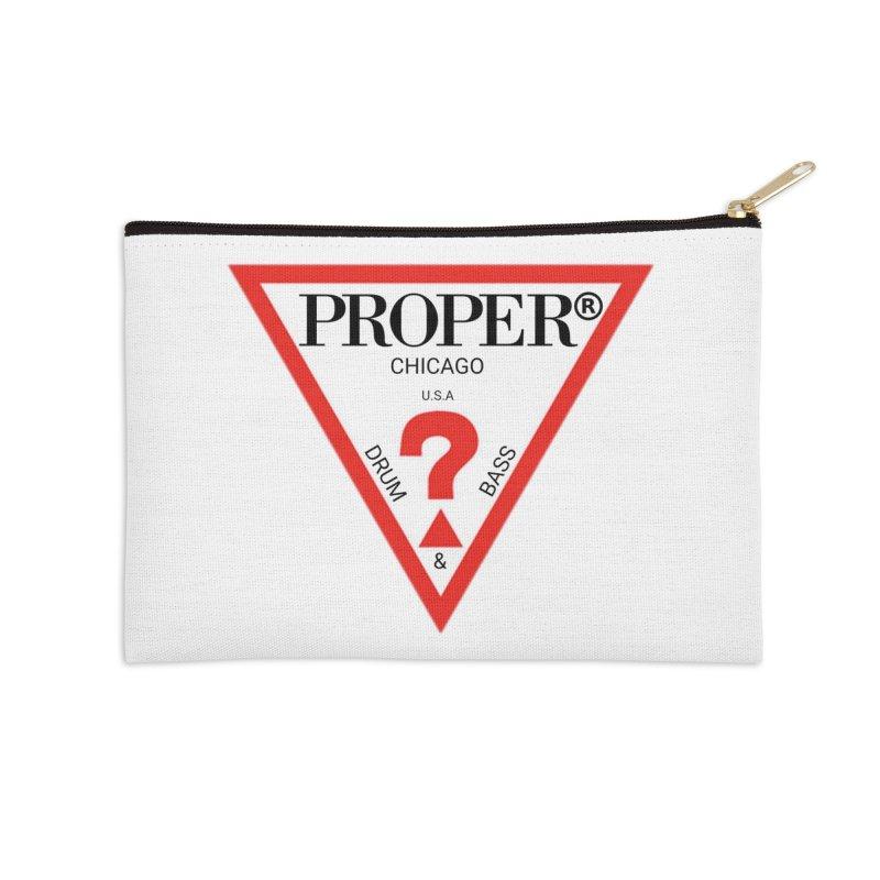 PROPER GUESS Accessories Zip Pouch by Properchicago's Shop