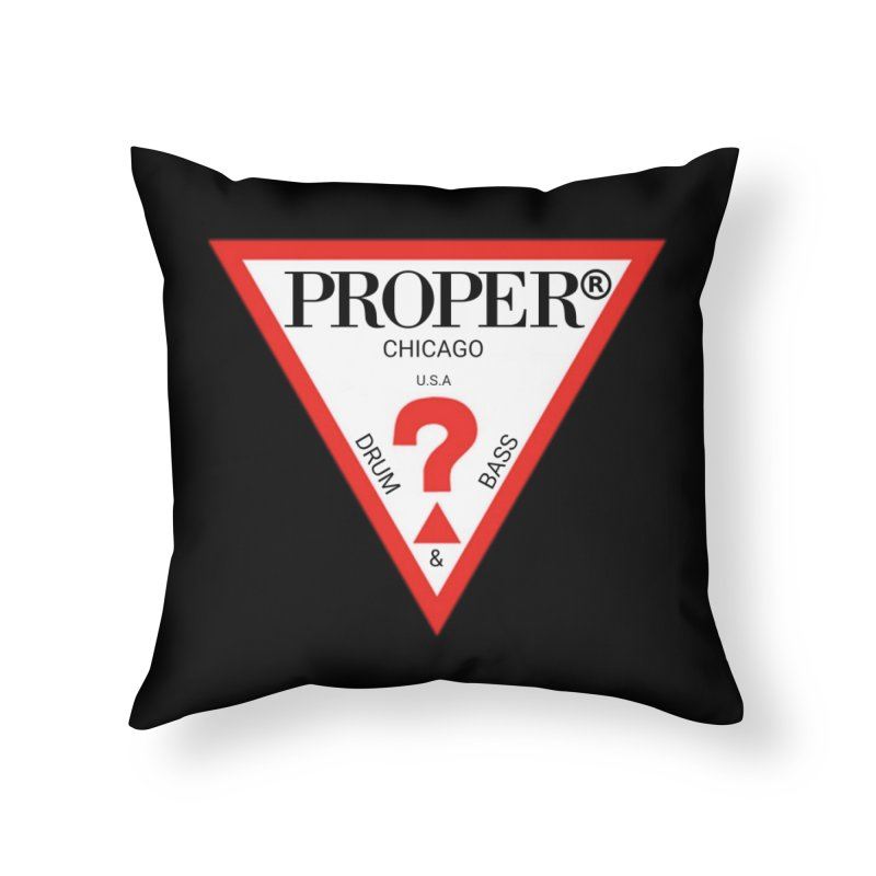 PROPER GUESS Home Throw Pillow by Properchicago's Shop