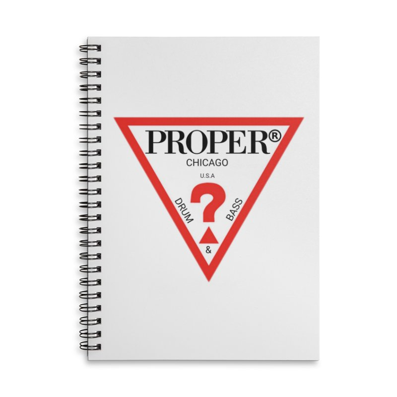 PROPER GUESS Accessories Lined Spiral Notebook by Properchicago's Shop