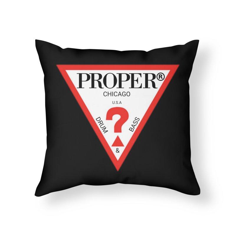 PROPER GUESS Home Throw Pillow by Properchicago's Shop