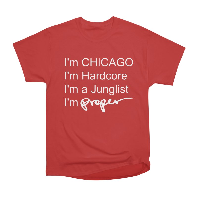 I am Hardcore Women's Heavyweight Unisex T-Shirt by Properchicago's Shop