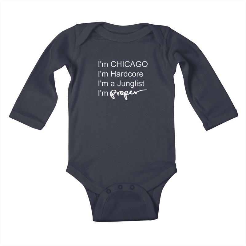 I am Hardcore Kids Baby Longsleeve Bodysuit by Properchicago's Shop