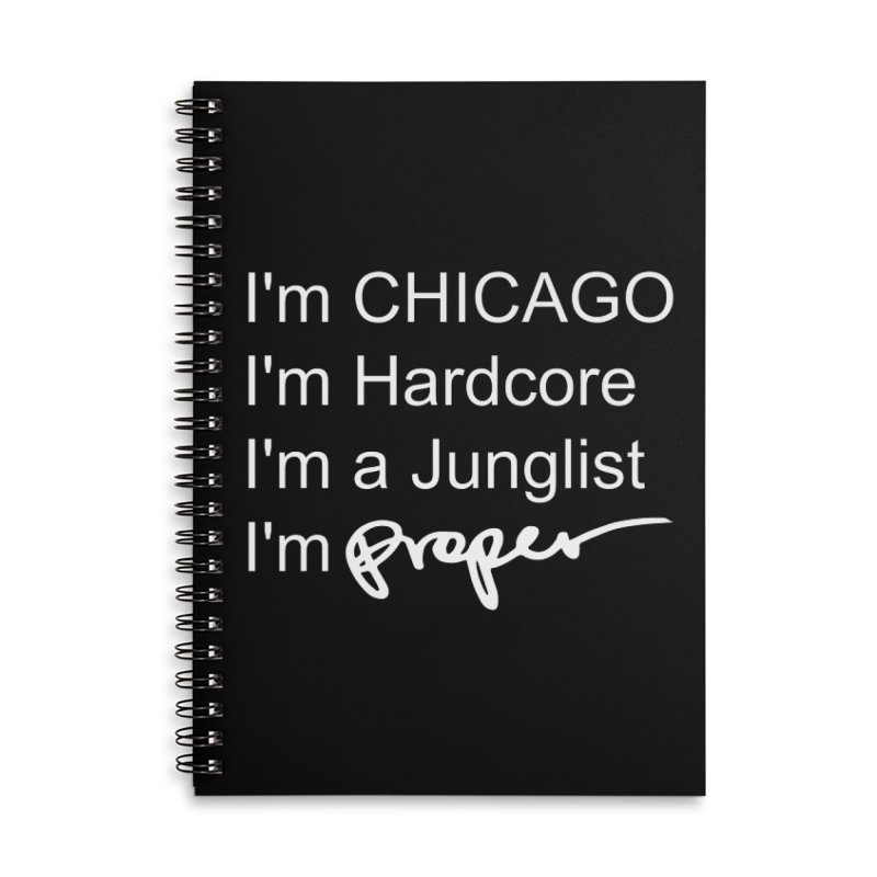 I am Hardcore Accessories Lined Spiral Notebook by Properchicago's Shop
