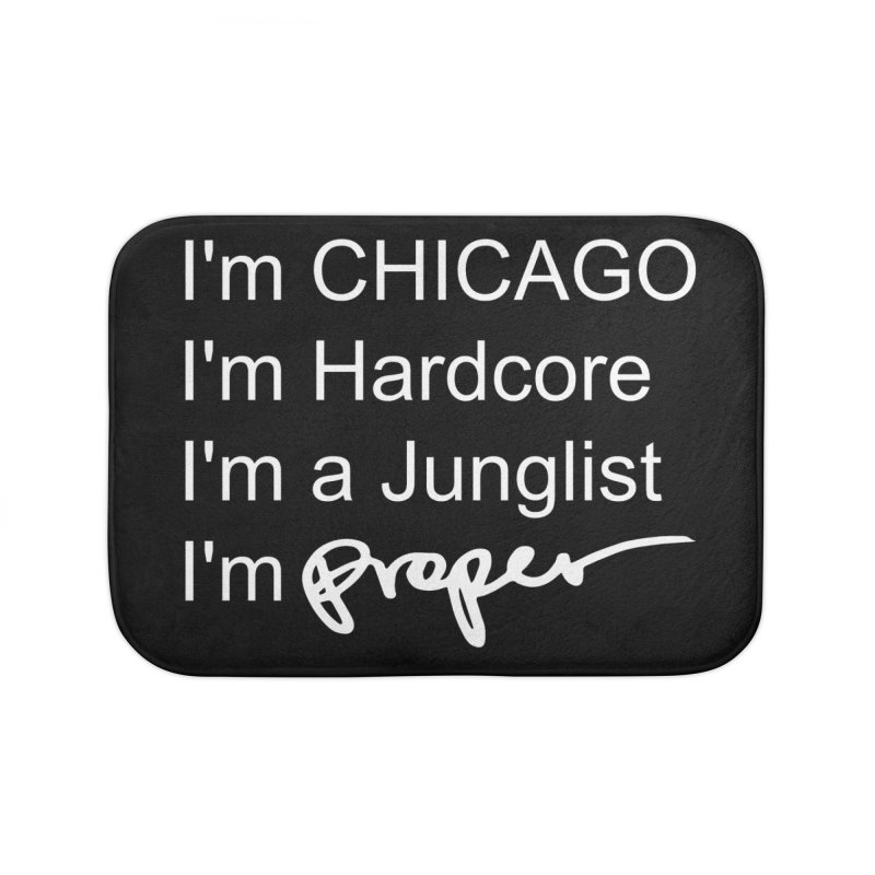I am Hardcore Home Bath Mat by Properchicago's Shop