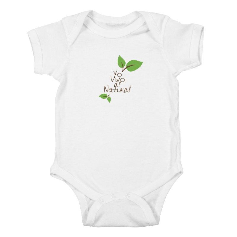 Yo vivo al natural Kids Baby Bodysuit by Psiconaturalpr's Artist Shop