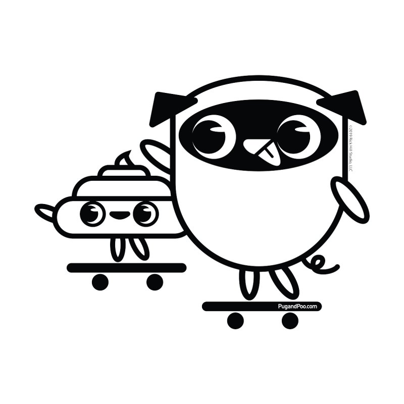 Pug and Poo Skate Accessories Sticker by Pug and Poo's Store