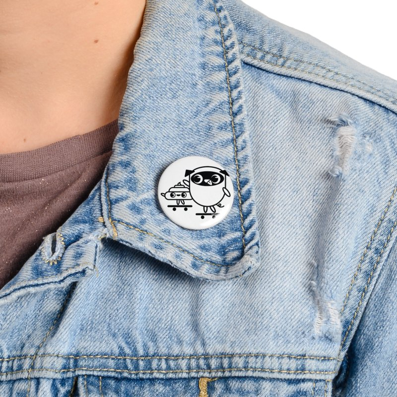 Pug and Poo Skate Accessories Button by Pug and Poo's Store