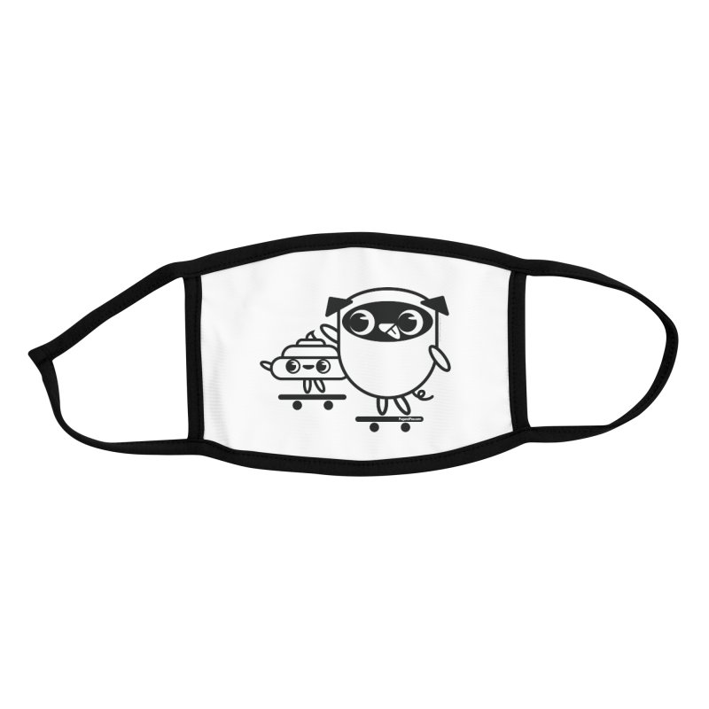 Pug and Poo Skate Accessories Face Mask by Pug and Poo's Store