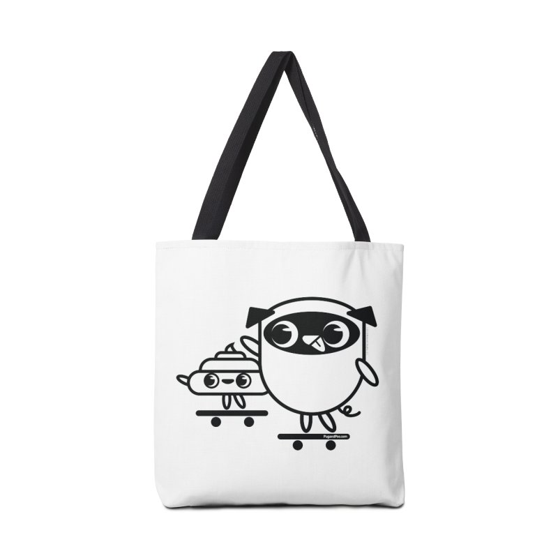 Pug and Poo Skate Accessories Tote Bag Bag by Pug and Poo's Store
