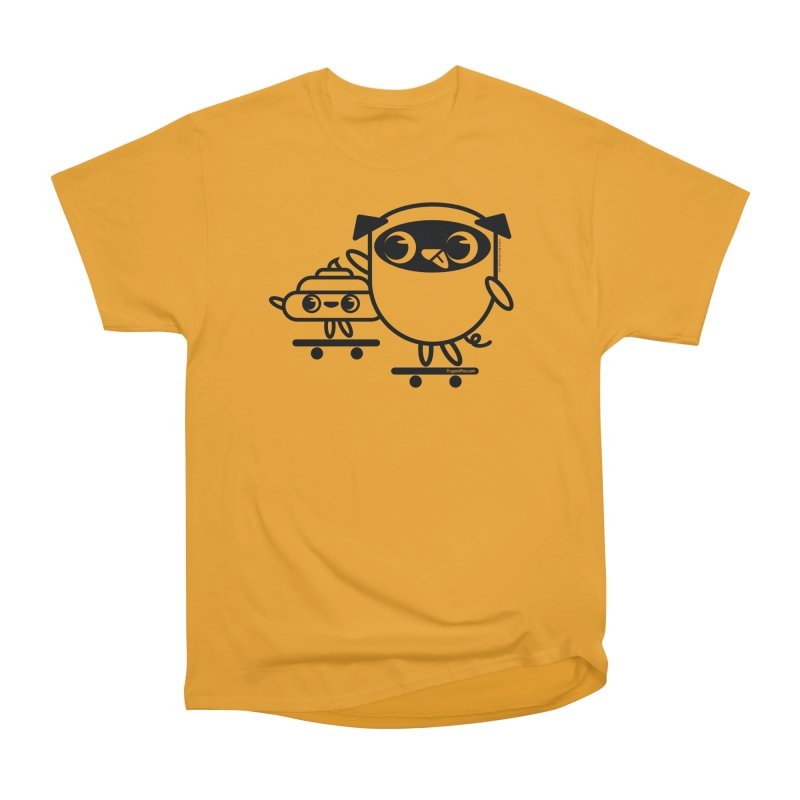 Pug and Poo Skate Men's T-Shirt by Pug and Poo's Store
