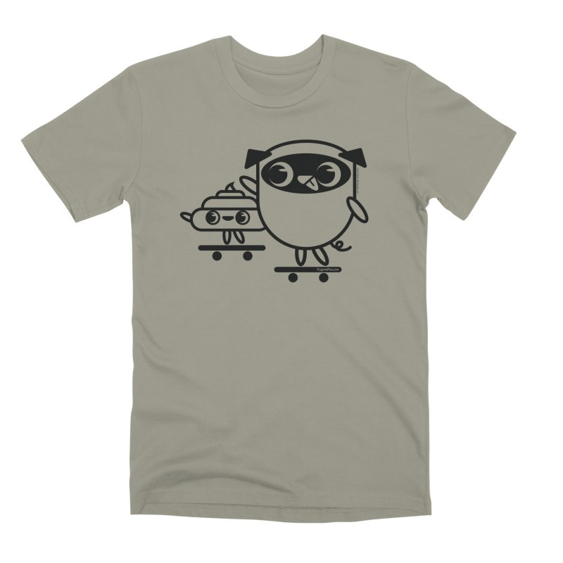 Pug and Poo Skate Men's Premium T-Shirt by Pug and Poo's Store