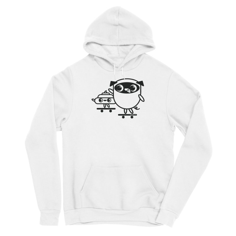 Pug and Poo Skate Women's Pullover Hoody by Pug and Poo's Store