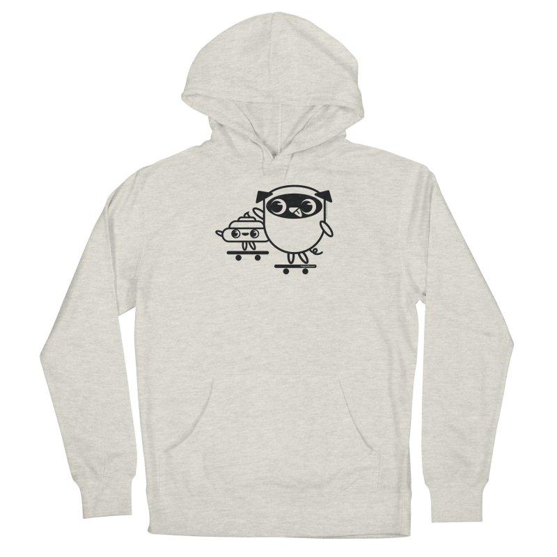 Pug and Poo Skate Men's French Terry Pullover Hoody by Pug and Poo's Store